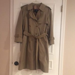 Burberry Tan Trench Coat with Removable Liner
